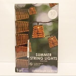 💝3/$35 Summer string lights w/ woven shade
